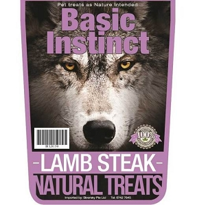 Basic Instinct Lamb Steak Natural Dog Treats