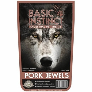 Basic Instinct Pork Jewels Dog Treats