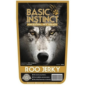 Basic Instinct Roo Jerky Dog Chew Treats