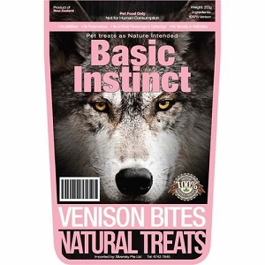 Basic Instinct Venison Bites Natural Dog Treats