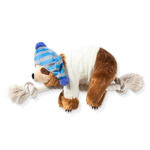 Fringe Studio Beanie with Sweater Sloth with Dog Squeaker Plush Toy