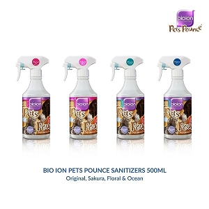 BioIon Pets Bounce Sanitizers 500ml