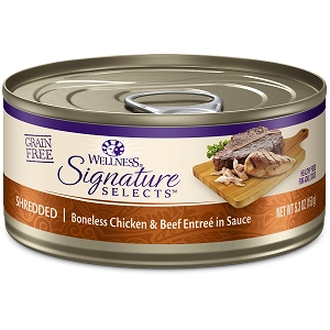 Wellness Cat Canned Core Signature Select Shredded Chicken & Beef