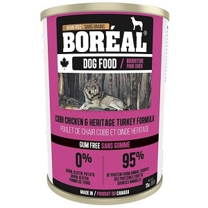 Boreal Canned Canadian Cobb Chicken and Heritage Turkey 369g