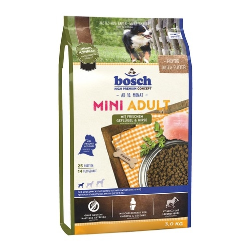 Bosch High Premium Mini Adult Poultry & Millet Dry Dog Food