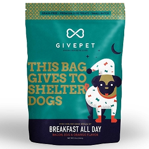 GivePet Breakfast All Day Grain Free Small Batch Cookie Treats