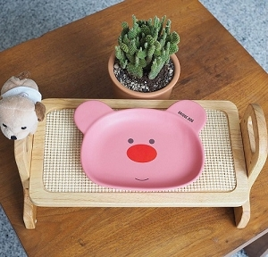 [SALE] Bridge.Dog Bear Face Dish + Table Set