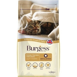 [SEPT 2019 Exclusive Promo] Burgess British Chicken & Duck Adult Dry Cat Food 1.5kg
