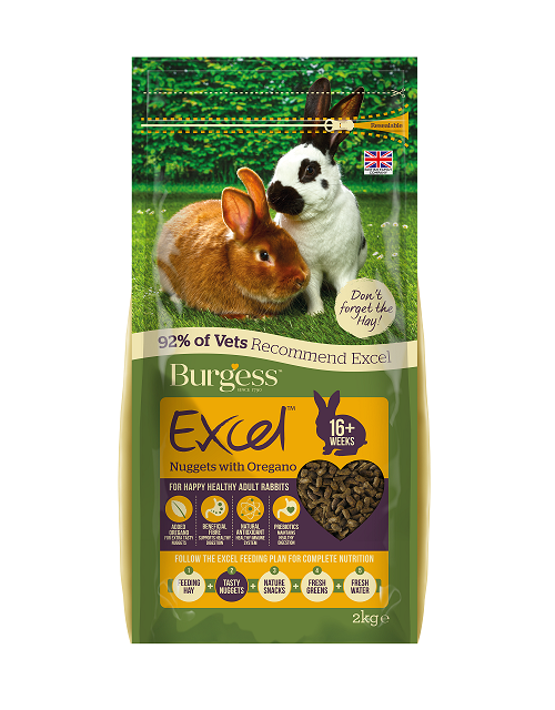 Burgess Excel Nuggets with Oregano for Adult Rabbits 2kg