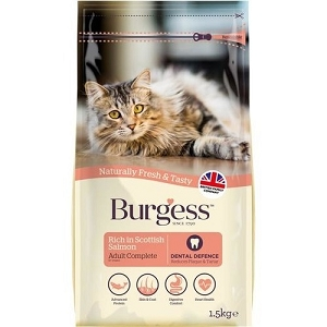 [SEPT 2019 Exclusive Promo] Burgess Scottish Salmon Adult Dry Cat Food 1.5kg