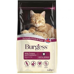 [SEPT 2019 Exclusive Promo] Burgess Turkey & Cranberry for Mature Cats Dry Cat Food 1.4kg