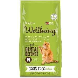 Burgess Wellbeing Grain Free Chicken Sensitive for Cats Dry Cat Food