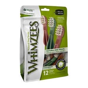 [BUY 2 FREE 1] Whimzees Value Bag Toothbrush M (12pcs)