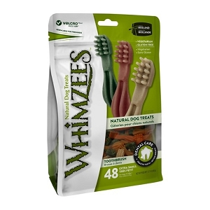 [BUY 2 FREE 1] Whimzees Value Bag Toothbrush XS (48pcs)