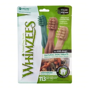 [BUY 2 FREE 1] Whimzees Value Bag Toothbrush XXS (113pcs)