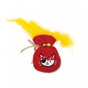 Catit Play Pirates Catnip Toys Plush Gold Pouch