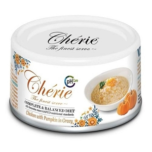 Chérie Canned Chicken with Pumpkin in Gravy - Urinary Care Cat Food (Complete & Balanced Series)