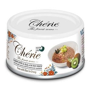 Chérie Canned Tuna with Kiwi in Gravy - Digestive Care Cat Food (Complete & Balanced Series)