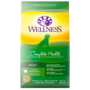[UP TO 30% OFF w/ FREE TREATS for Large bag] Wellness Complete Health Adult Lamb & Barley Recipe Dry Dog Food