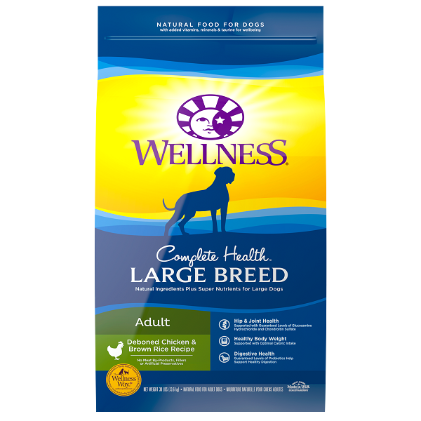 Wellness Complete Health Large Breed Chicken Dog Food