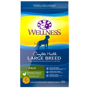 [UP TO 30% OFF w/ FREE TREATS for Large bag] Wellness Complete Health Large Breed Adult Deboned Chicken & Brown Rice Dry Dog Food