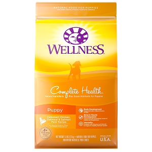 [UP TO 30% OFF w/ FREE TREATS for Large bag] Wellness Complete Health Puppy Dry Dog Food