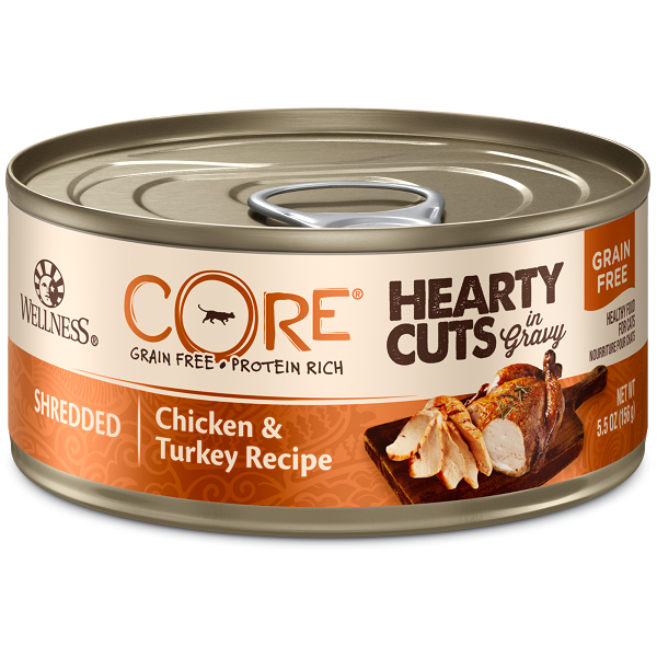 Wellness Cat canned Shredded Chicken & Turkey Recipe