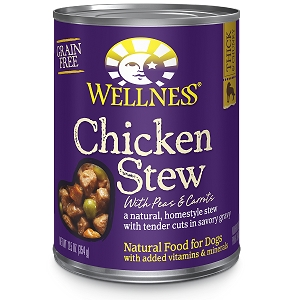 Wellness Chunks & Gravy, Chicken Stew with Peas & Carrots, Canned Dog Food