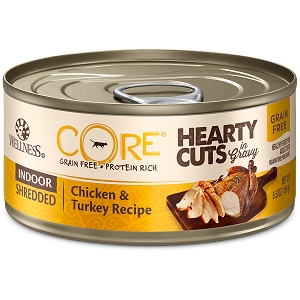 Wellness Cat canned Shredded Indoor Chicken & Turkey Recipe