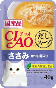 Ciao Clear Soup Pouch – Chicken Fillet Topping Dried Bonito