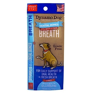 Cloudstar Dynamo Dog Functional Dental Bones Itty Bitty Breath Pet Treat