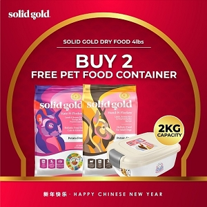 [JAN 2020 Promo] Solid Gold Katz-N-Flocken - Buy 2 Free 1 Catidea Food Container Worth $19.90