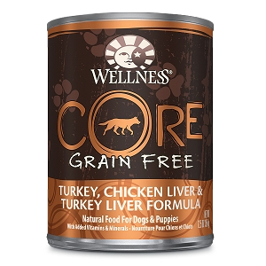 Wellness Core Canned Dog Grain Free Turkey, Chicken Liver & Turkey Liver Formula