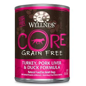 Wellness Core Canned Dog Grain Free Turkey, Pork & Duck Formula