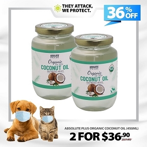 [HYGIENE CAMPAIGN] Absolute Plus Organic Raw Virgin Coconut Oil 450ml