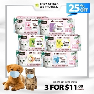 [HYGIENE CAMPAIGN] Kit Cat Wipes - 3 For $11