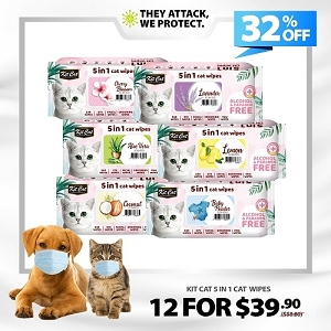 [HYGIENE CAMPAIGN] Kit Cat Wipes - 12 For $39.90