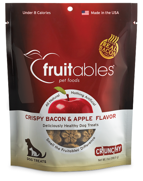 Fruitables Dog Treats Crispy Bacon & Apple 7oz