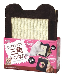 Marukan Cat Scratcher Triangle Tunnel W255xD300xH270mm