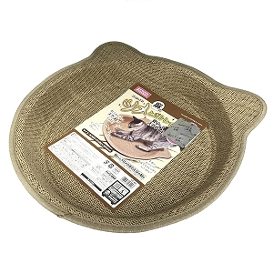 Marukan Cat Shape Scratching Tray Hemp 38x38x6cm