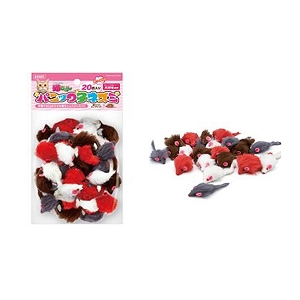 Marukan Mouse Toy For Cat 20pcs