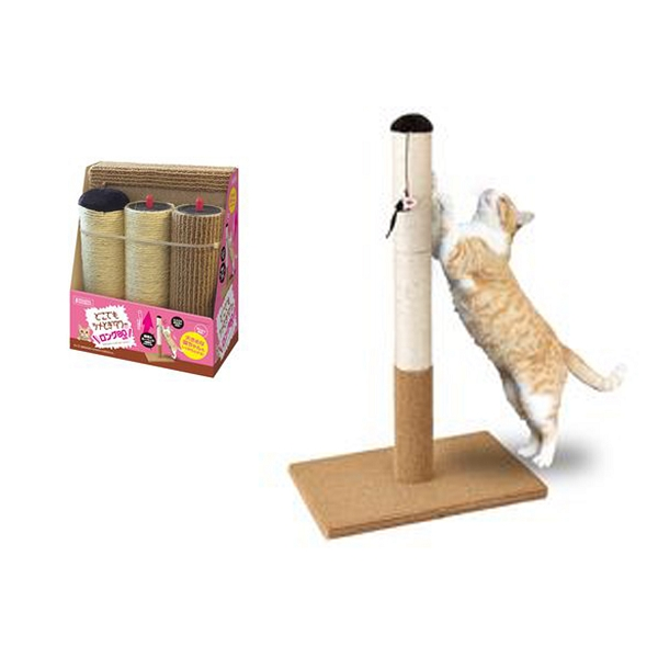 Marukan Cat Scratching Tower Long Type 80cm 48x30x80cm