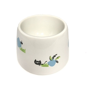 Marukan Easy Eat Ceramic Cat Water Dish 15x15x10cm