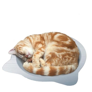 Marukan Cat Shape Aluminium Pan for Cat 38x38x8cm