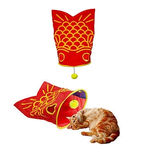 Marukan Briskly Sound Goldfish with Toy for Cat 38x56x26cm