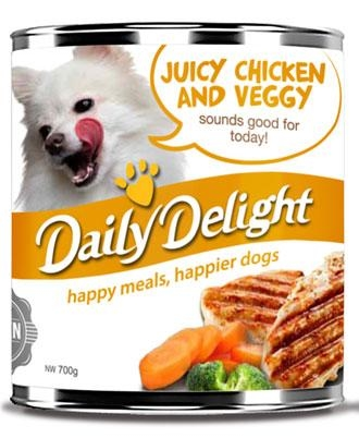 Daily Delight Canned Juicy Chicken and Veggy