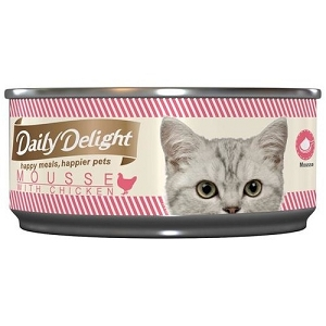 Daily Delight Canned Mousse with Chicken Cat Food
