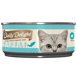 Daily Delight Canned Mousse with Tuna Cat Food