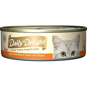 Daily Delight Canned Pure Skipjack Tuna White & Chicken with Pumpkin Cat Food