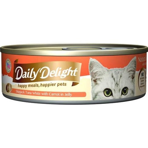 Daily Delight Canned Skipjack Tuna White with Carrot in Jelly Cat Food